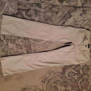 american eagle khaki long bootcut pants